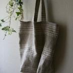 リネンのシンプルバッグ