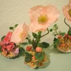 粘土でデコ生け花