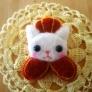 王様猫のブローチ