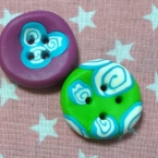 FIMOで作る うずまき模様のボタン(*^_^*)