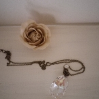 シャンデリアパーツのネックレス