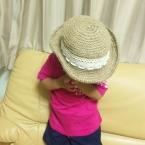 麻ひもで作る麦わら帽子