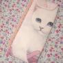 白猫ロンTのリメイクペンケース