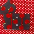 りんごのレトロなリメイク通帳ケース
