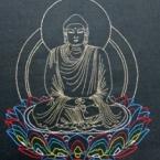 仏画刺繍  阿弥陀如来坐像