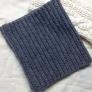中長編みのゴム編み風ネックウォーマー