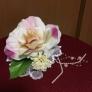 100均の造花で作った 髪飾り ー成人式ー