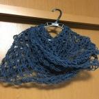 七宝編みのスヌード