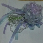 紫陽花風コサージュ