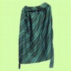 緑地に小花柄のギャザースカート