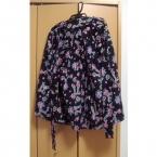 リボンとバラのギャザースカート