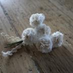 シロツメ草のブローチ
