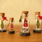 *クリスマスを瓶詰め♪の消しゴムはんこ*