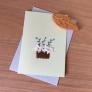 3つのステッチが楽しめる可愛い紙刺繍カード☆図案付