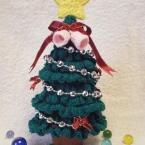 かぎばり編みのクリスマスツリー
