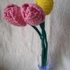 かぎばり編みでチューリップ