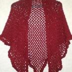 頂点から編むネット編み三角ストール