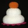 かぎばり編みで鏡餅