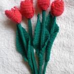 かぎばり編みでチューリップ2