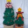 パーツ別に編むかぎばり編みのクリスマスツリー