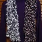 かぎばり編みでふわふわマフラー