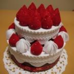 フェルトの2段ケーキ☆