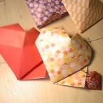 簡単可愛い、折り紙の「立体ハートのギフトボックス」