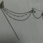 蝶の二連簪