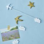 お部屋のワンポイントに✨飛行機雲の壁デコ