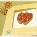 かぼちゃのカード♪