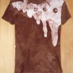 ろうけつ染めでTシャツ