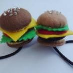 ハンバーガーのヘアーゴム♪