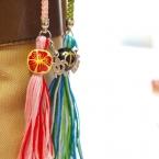 刺繍糸でフリンジ!