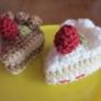 小さい編みいちごショートケーキ