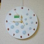 グリーンギンガムチェックとデイジーの時計