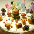 マジパンでお祝いケーキ♪
