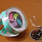 プラ板メダルを入れられる、紙コップの腕時計