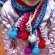 虹色のキッズマフラー