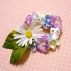 花かんむりのドクロちゃんブローチ