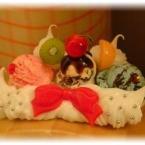 ☆プチアイスとフルーツのデコ☆
