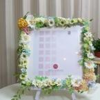 お花いっぱいのウェルカムボード