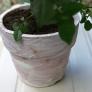 素焼き植木鉢にペイント