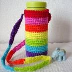 アクリル糸で編む マグボトルホルダー
