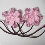 ヘアゴムに!毛糸で作るお花のモチーフ