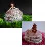 ビーズのドレス人形