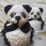 3Dパンダ シュガー人形(ケーキも同じ作り方)