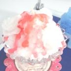 苺のかき氷 生クリームのせ キャンドル