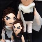 刺繍でお顔を作ったお人形