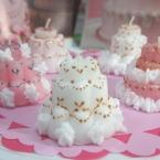 キャンドルのデコレーションケーキ