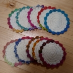 オパール毛糸のコースター
